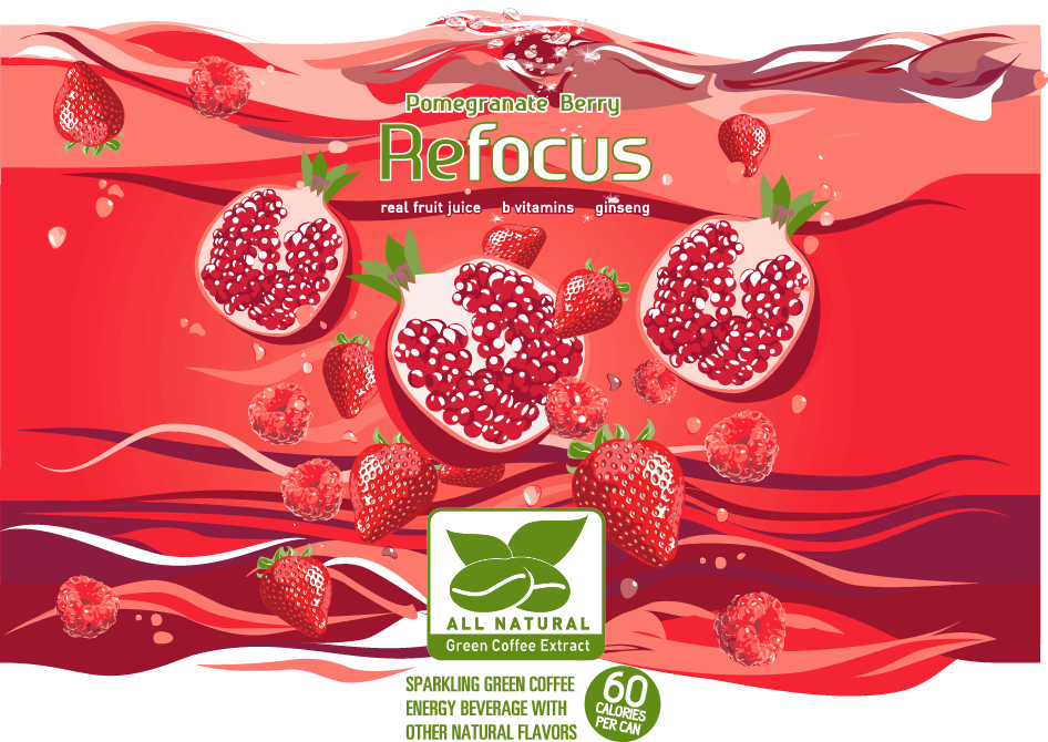 Refocus™ Pomegranate Berry Energy Drink